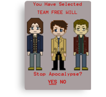 Team Free Will character select Canvas Print