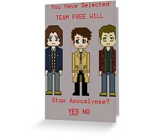 Team Free Will character select Greeting Card