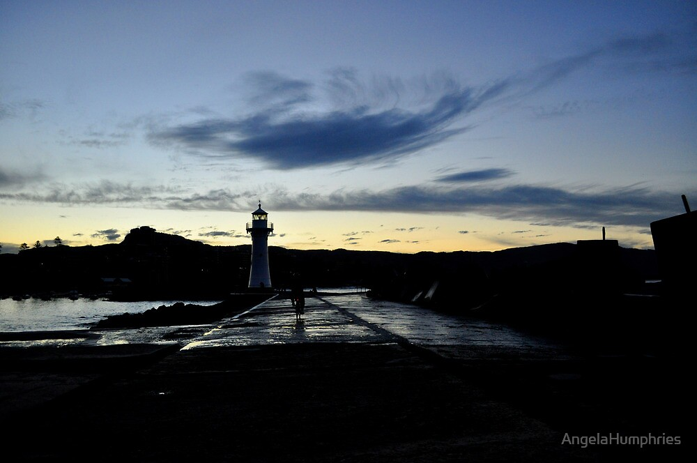 Amber Swirl at Wollongong Lighthouse by AngelaHumphries