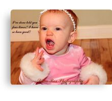 So darn cute...great for christmas Canvas Print
