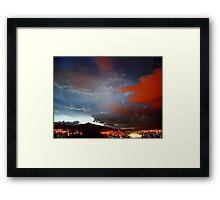 ©HCS Red Night I Framed Print