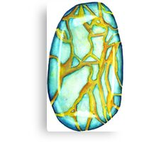 Watercolor Turquoise – December Birthstone Canvas Print