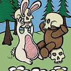 Teddy Bear and Bunny - Playing Dress Up by Brett Gilbert