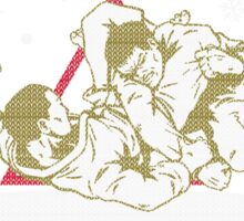 Jiu Jitsu Ugly Christmas Sticker