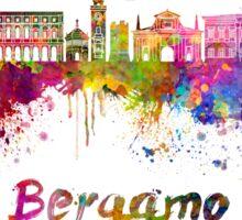 Bergamo skyline in watercolor Sticker