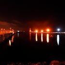 Night Light at Port by AngelaHumphries