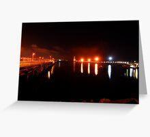 Night Light at Port Greeting Card