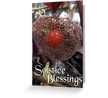 Winter Solstice Blessings Chinese Lantern Pagan Greeting Card