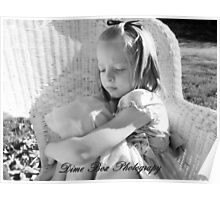 pouting little Girl Poster
