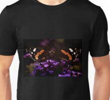 Butterfly on verbena flower. Unisex T-Shirt
