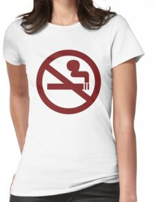 No-Smoking Womens Fitted T-Shirt