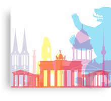 Berlin skyline pop Canvas Print