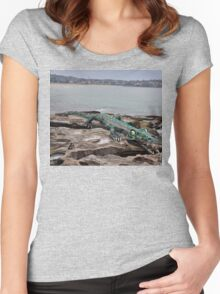 Crocodile @ Sculptures By The Sea, Sydney 2012 Women's Fitted Scoop T-Shirt