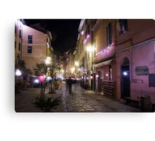 Nighttime in Vernazza  Canvas Print