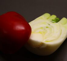 Red Capsicum and Fennel by exvista