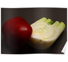 Red Capsicum and Fennel Poster