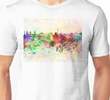 Berlin skyline in watercolor background Unisex T-Shirt