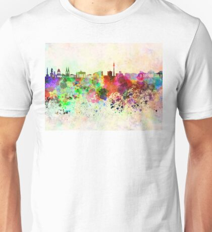 Berlin skyline in watercolor background Unisex T-Shirt