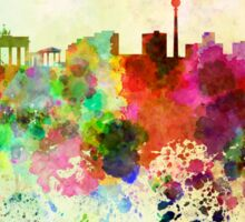 Berlin skyline in watercolor background Sticker