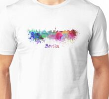 Berlin skyline in watercolor Unisex T-Shirt