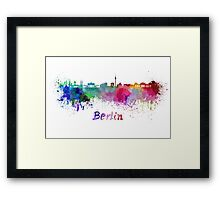 Berlin skyline in watercolor Framed Print