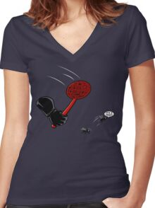 Fly trap Women's Fitted V-Neck T-Shirt