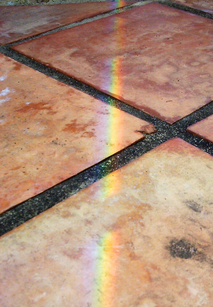 Rainbow On Pavement - Three - 21 11 12 by Robert Phillips