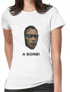 Deus Ex: A Bomb! Womens Fitted T-Shirt