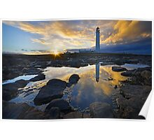 Barns Ness Sunset Poster