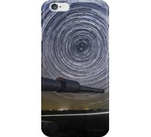 Time-exposure of polar star trails iPhone Case/Skin