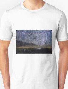 Time-exposure of polar star trails T-Shirt