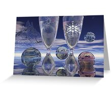 Cheers!, surrealistic / fantasy artwork with drinks Greeting Card