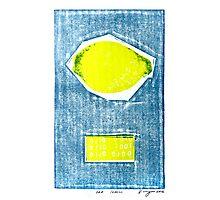 bad lemon retro fruit fine art binary code litho print Photographic Print