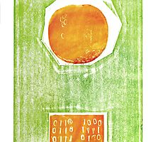 hot tomato retro fruit fine art binary code litho print by Veera Pfaffli