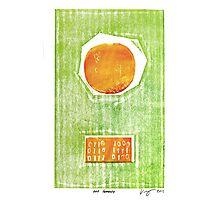 hot tomato retro fruit fine art binary code litho print Photographic Print