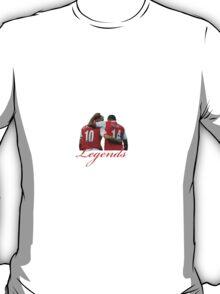 Dennis Bergkamp and Thierry Henry - Legends T-Shirt