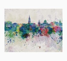 Bern skyline in watercolor background Kids Clothes