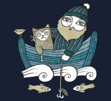 The Fisherman's Cat (Tee) Kids Tee