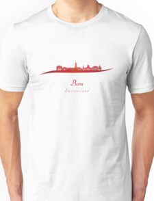 Bern skyline in red Unisex T-Shirt