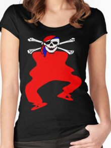 ★ټPirate Skull Style Hilarious Clothing & Stickersټ★ Women's Fitted Scoop T-Shirt