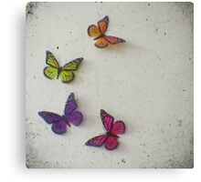 Oh to be a Butterfly Canvas Print