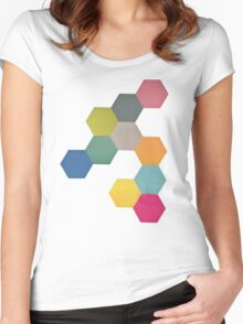 Honeycomb I Women's Fitted Scoop T-Shirt