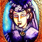 Victorian Lady Wearing a Hat by Penny Lewin - Hetherington