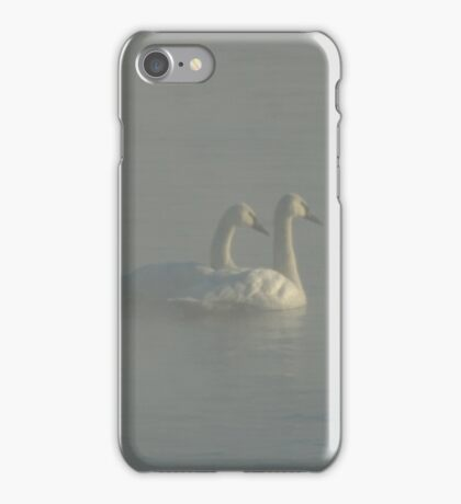 Trumpeter Swans in Morning Fog iPhone Case/Skin