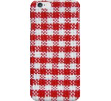 Red and White Checks iPhone Case/Skin