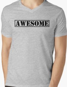 AWESOME - second version (black type) Mens V-Neck T-Shirt