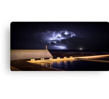 Incoming Storm, Newcastle Ocean Baths Canvas Print