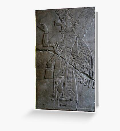 The Assyrian God Ashur, Pergamon Museum, Berlin Greeting Card