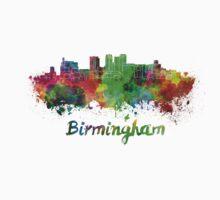 Birmingham AL skyline in watercolor One Piece - Long Sleeve