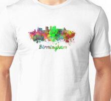 Birmingham AL skyline in watercolor Unisex T-Shirt